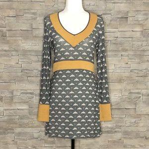 Kollontaï grey and caramel dress